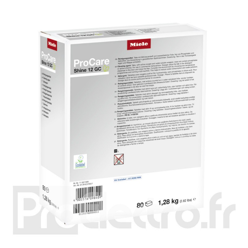 Miele ProCare Shine 12 - 80 Tablettes
